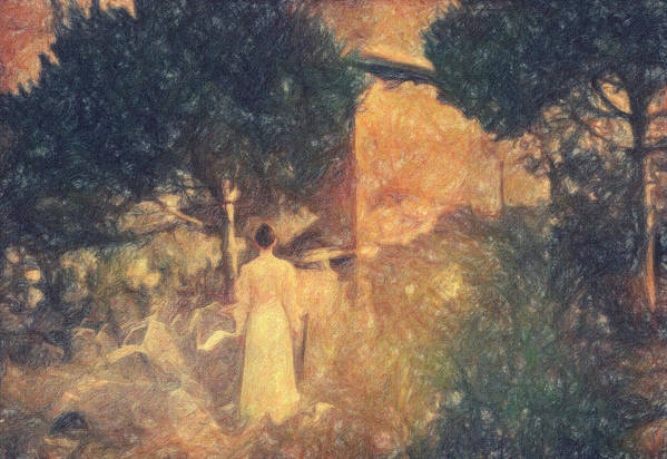 Impressionist Print featuring the painting Dirge For November by Taylan Apukovska