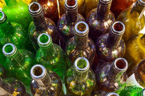 Abstract Print featuring the photograph Dirty Bottles by Carlos Caetano
