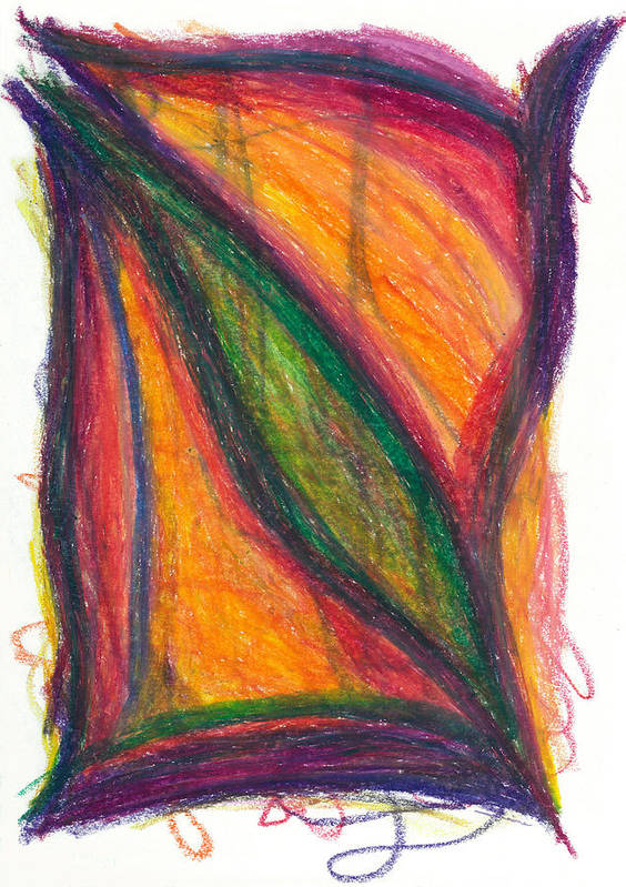 Oil Print featuring the drawing Divine Love by Daina White