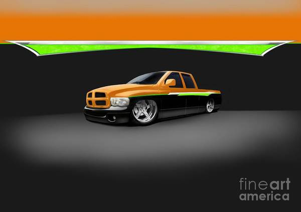Custom Print featuring the digital art Dodge by Frankie Thorpe