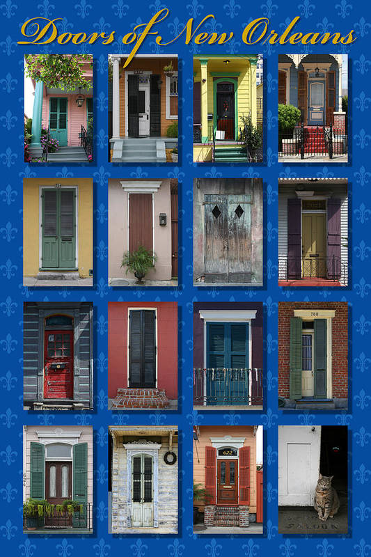 New Orleans Print featuring the photograph Doors Of New Orleans by Heidi Hermes
