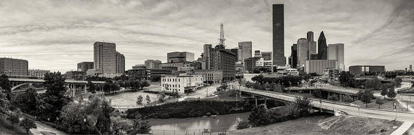 University Of Houston Print featuring the photograph Downtown Houston From Uh-d by Silvio Ligutti