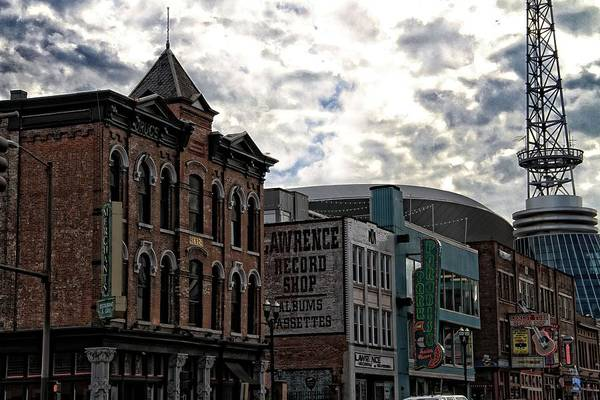 Downtown Nashville Print featuring the photograph Downtown Nashville by Dan Sproul