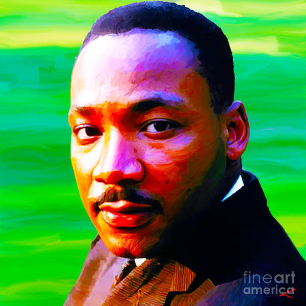 Mlk Print featuring the painting Dream-maker by Scott Laffin