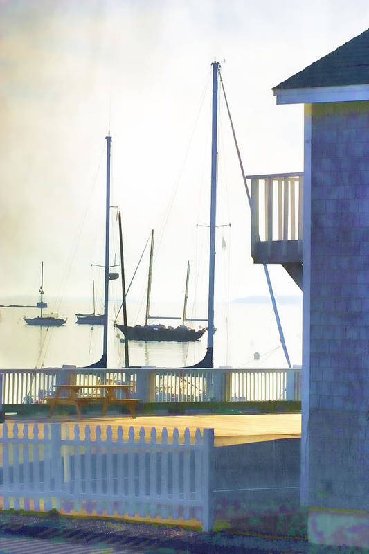 Camden Print featuring the photograph Early Morning Camden Harbor Maine by Carol Leigh
