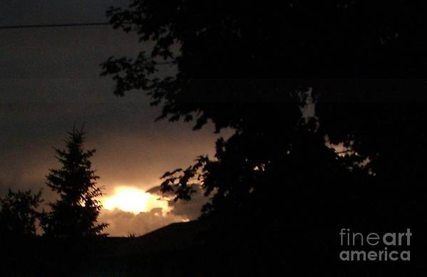 Eerie Sky After The Storm Print by Gail Matthews
