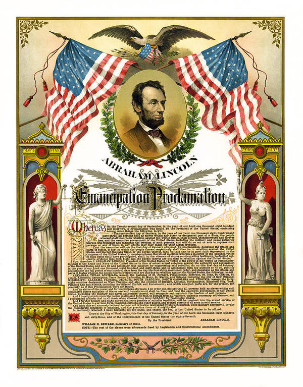 emancipation Proclamation Print featuring the photograph Emancipation Proclamation Tribute 1888 by Daniel Hagerman