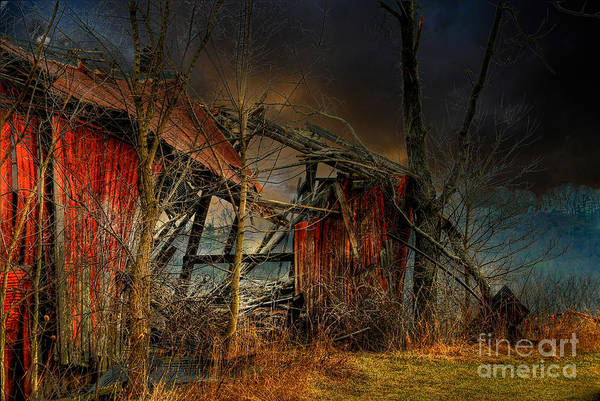 Barn Print featuring the photograph End Times by Lois Bryan