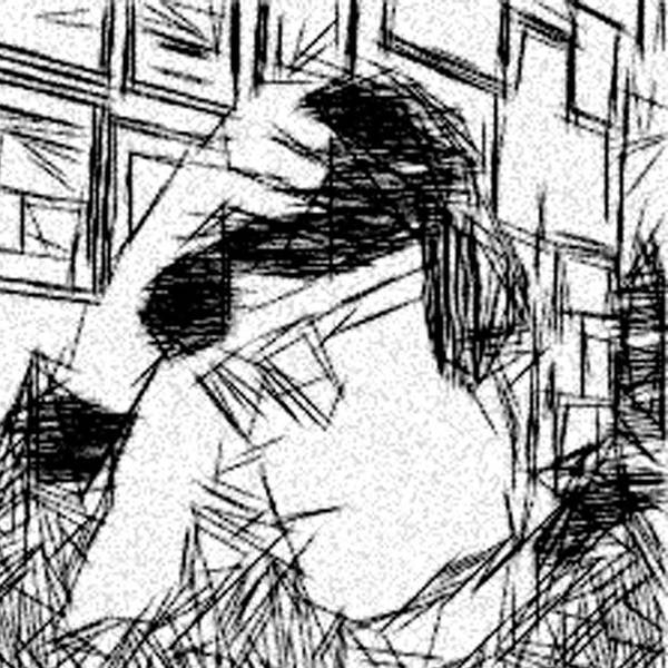 Jonathan Harnisch Print featuring the drawing Existential Despair by Jonathan Harnisch