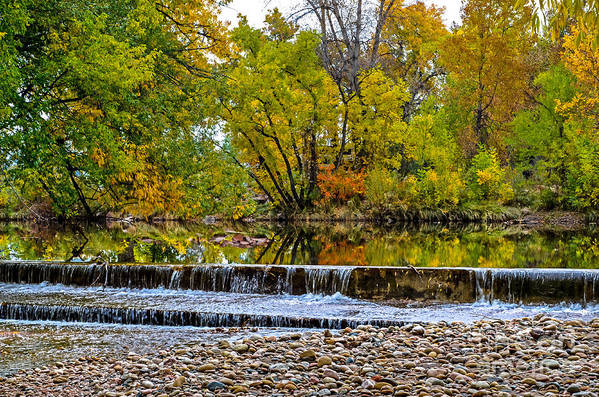 Fall Print featuring the photograph Falls Fall-2 by Baywest Imaging