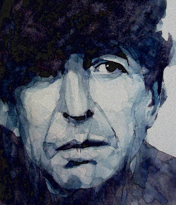 Leonard Cohen Print featuring the painting Famous Blue Raincoat by Paul Lovering