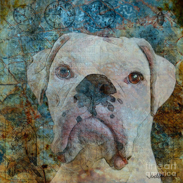 Dog Print featuring the digital art Field Study-colours by Judy Wood