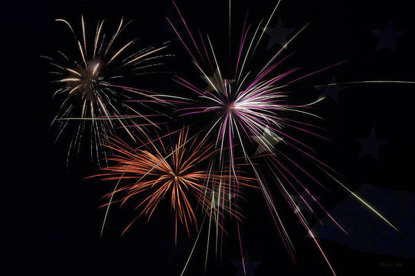 Fireworks Print featuring the photograph Fireworks With Pride by Christina Rollo
