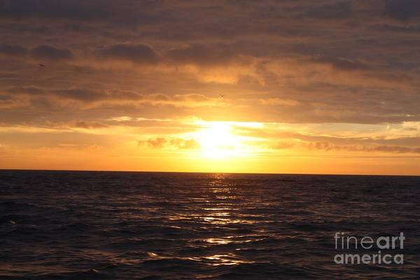 Fishing Into The Sunrise Print featuring the photograph Fishing Into The Sunrise by John Telfer