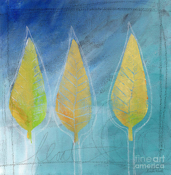 Abstract Print featuring the painting Floating by Linda Woods