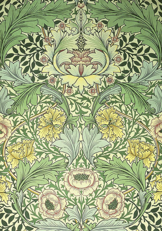 Floral And Foliage Design Print By William Morris