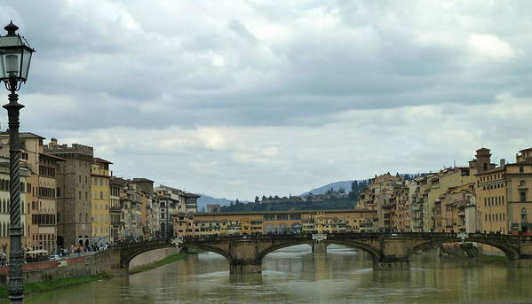 Travel Print featuring the photograph Florence. Ponte Vecchio by Anna and Sergey