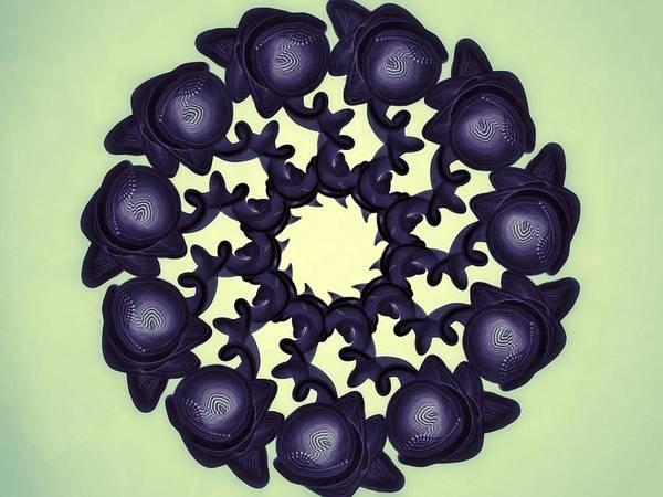 Abstract Print featuring the digital art Flowers Of Algebra by Michael Jordan