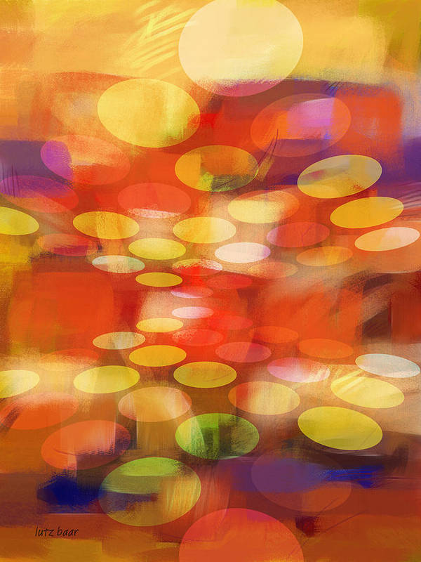 Abstract Paintings Print featuring the painting Formation by Lutz Baar
