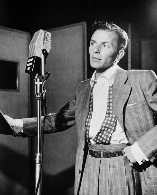 Frank Sinatra Print featuring the photograph Frank Sinatra by Mountain Dreams