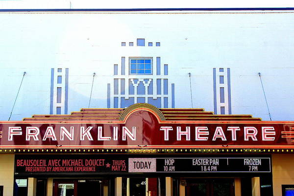 Franklin Theatre Print featuring the photograph Franklin Theatre by Anthony Jones