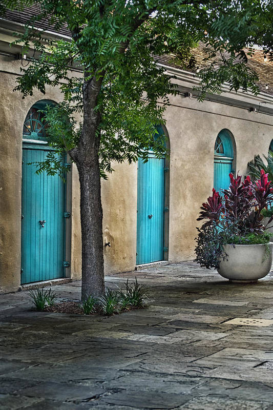 French Quarter Print featuring the photograph French Quarter Alley by Brenda Bryant