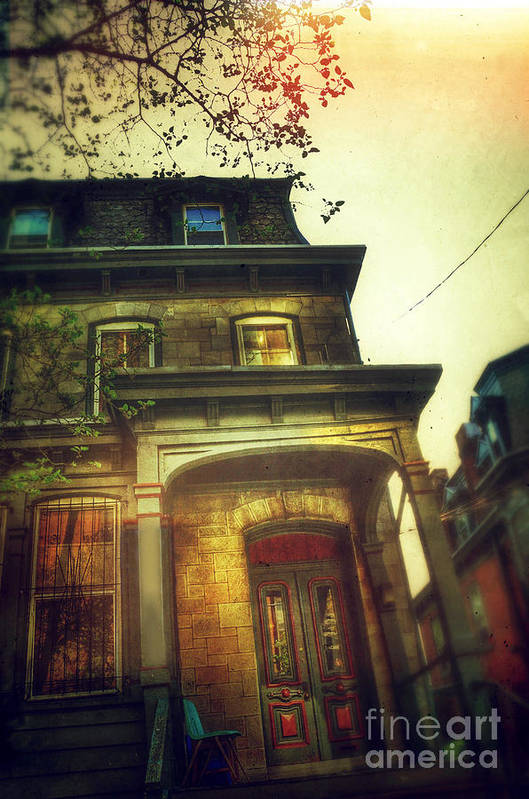 House Print featuring the photograph Front Of Old House by Jill Battaglia