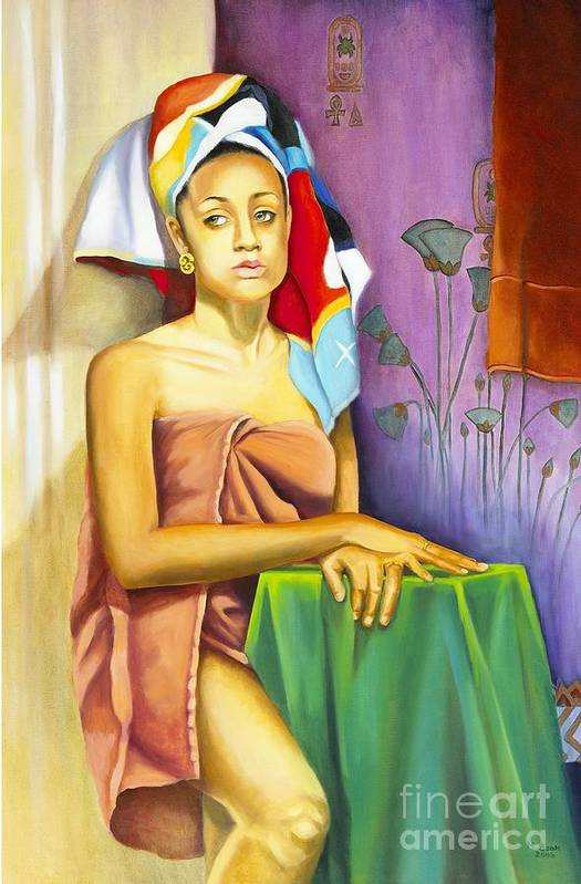 Portrait Print featuring the painting Gaby by Marlene Book