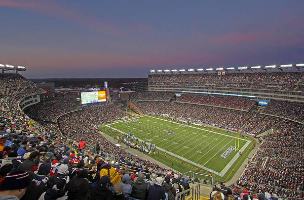 Patriots Print featuring the photograph Gillette Stadium And New England Patriots by Juergen Roth