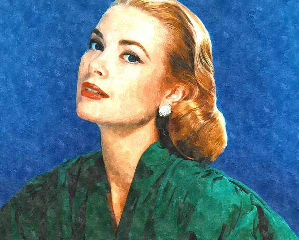 Grace Print featuring the painting Grace Kelly Painting by Gianfranco Weiss