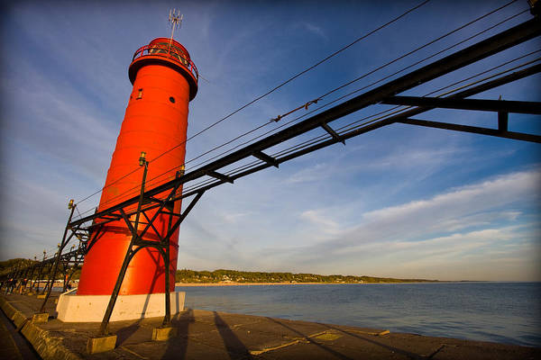 3scape Photos Print featuring the photograph Grand Haven Lighthouse by Adam Romanowicz