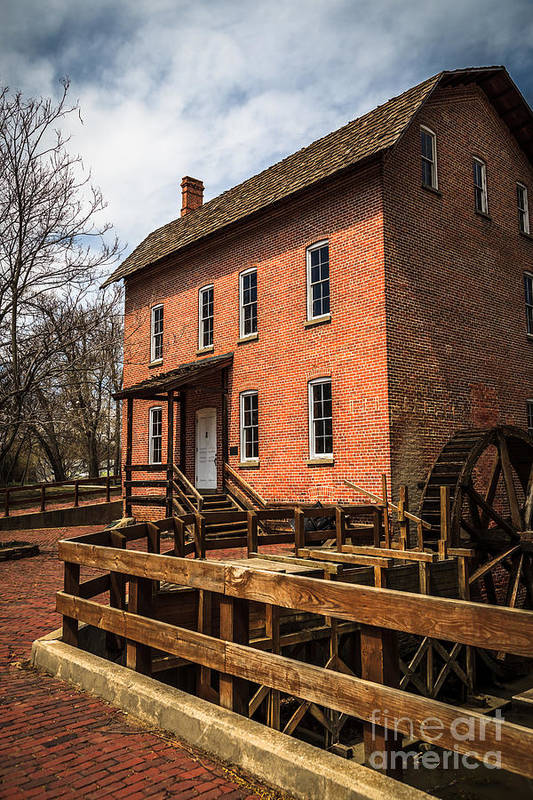 1800's Print featuring the photograph Grist Mill In Hobart Indiana by Paul Velgos