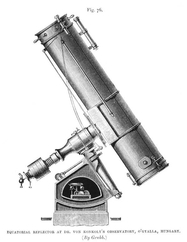 Equipment Print featuring the photograph Grubb Equatorial Telescope, Hungary by Science Photo Library