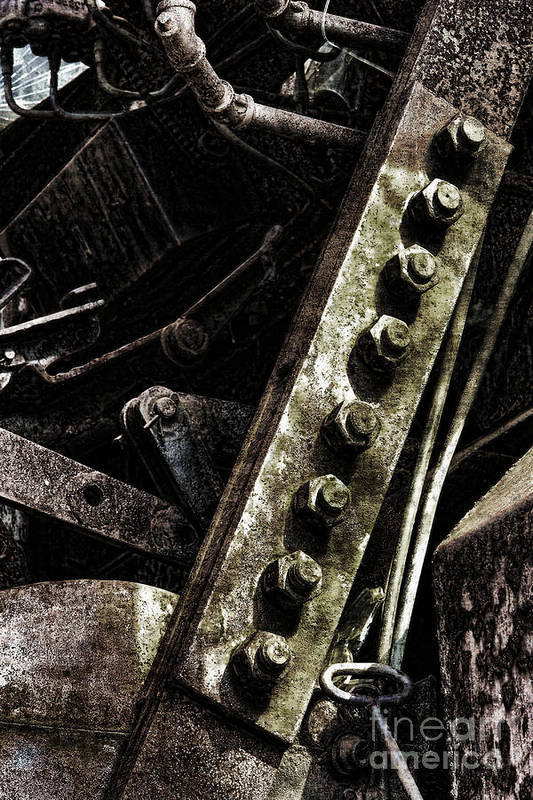 Industrial Print featuring the photograph Grunge Industrial Machinery by Olivier Le Queinec
