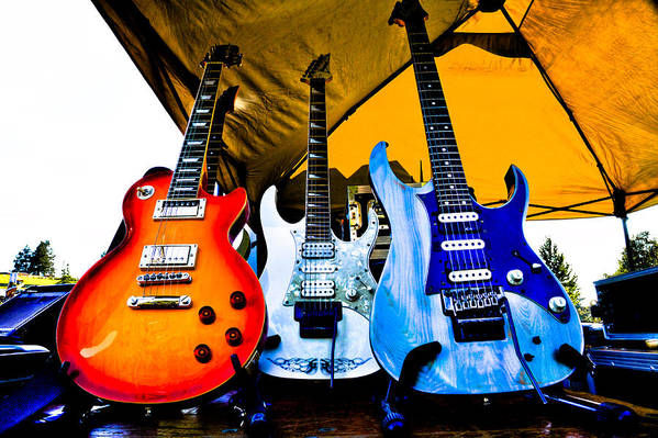The Kingpins Print featuring the photograph Guitar Trio by David Patterson