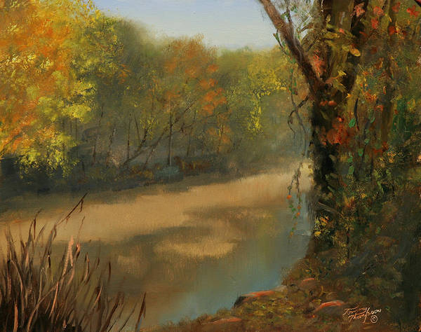 Harpeth River Print featuring the painting Harpeth At Carnton by Tommy Thompson