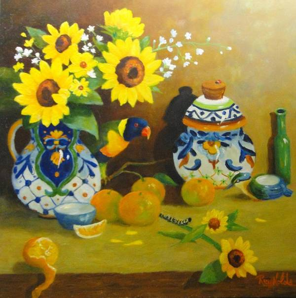 Still Life Print featuring the painting Heads Or Tails by Carol Reynolds