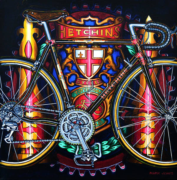 Bicycle Print featuring the painting Hetchins by Mark Howard Jones