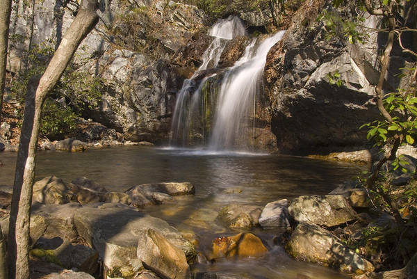 Waterfall Print featuring the photograph High Falls Talledega National Forest Alabama by Charles Beeler