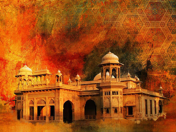 Pakistan Print featuring the painting Hindu Gymkhana by Catf