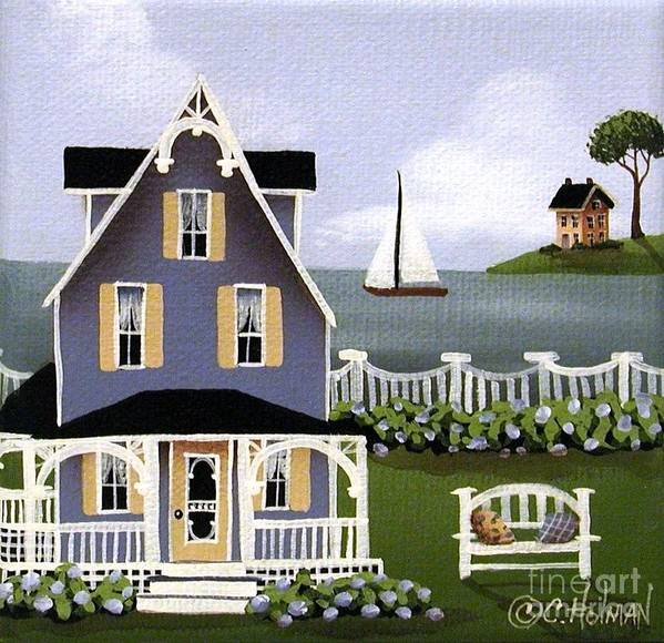 Art Print featuring the painting Hydrangea Cove by Catherine Holman