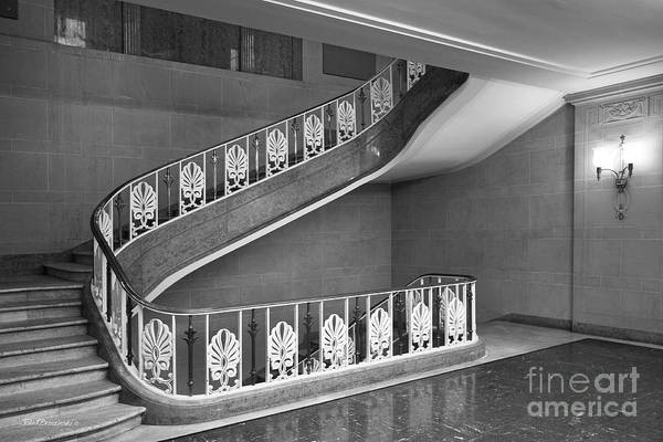 Bloomington Print featuring the photograph Illinois State University Williams Hall Stairway by University Icons