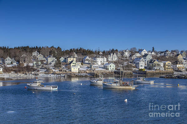 Stonington Print featuring the photograph In The Morning Light by Evelina Kremsdorf