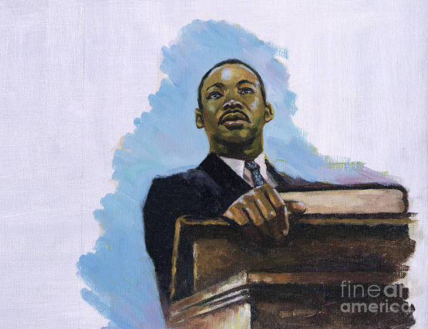 Martin Luther King Jr Print featuring the painting Inalienable by Colin Bootman