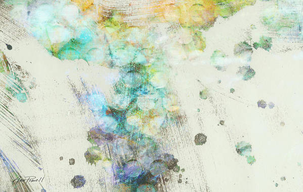 Abstract Print featuring the digital art Inversion Abstract Art by Ann Powell