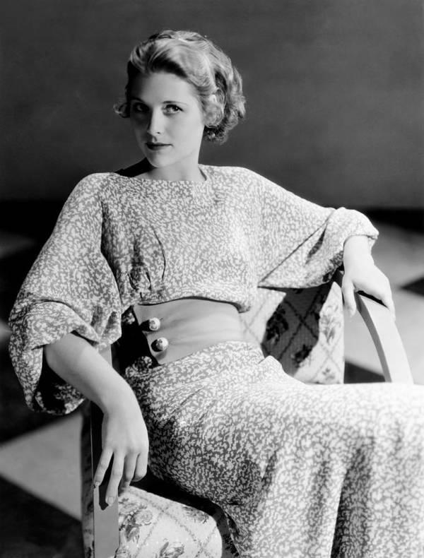 1930s Fashion Print featuring the photograph Irene Hervey, 1933 by Everett