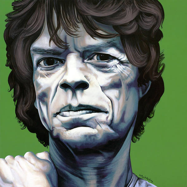 Kelly Jade King Print featuring the painting Jagger by Kelly Jade King