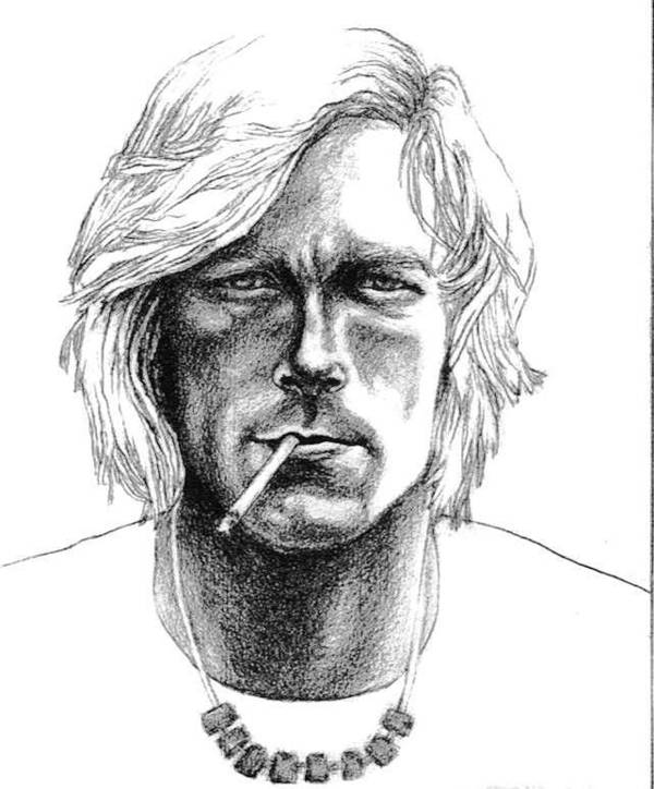 Car Racing Champion Print featuring the drawing James Hunt by Diane Fine