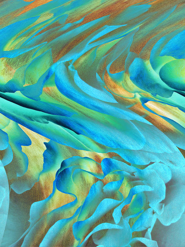 Abstract Art Print featuring the digital art Jazz by Ann Powell
