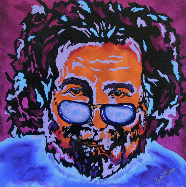 Jerry Garcia Paintings Print featuring the painting Jerry Garcia-it's A Me Thing by Bill Manson